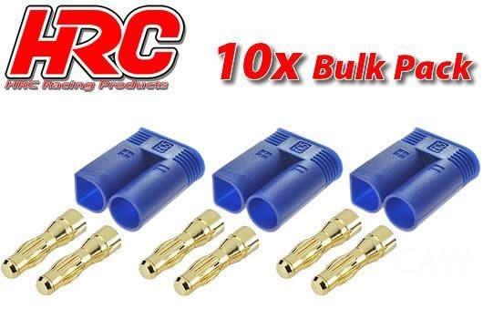 HRC Racing Stecker - Gold - EC5 - männchen (10 Stk.)