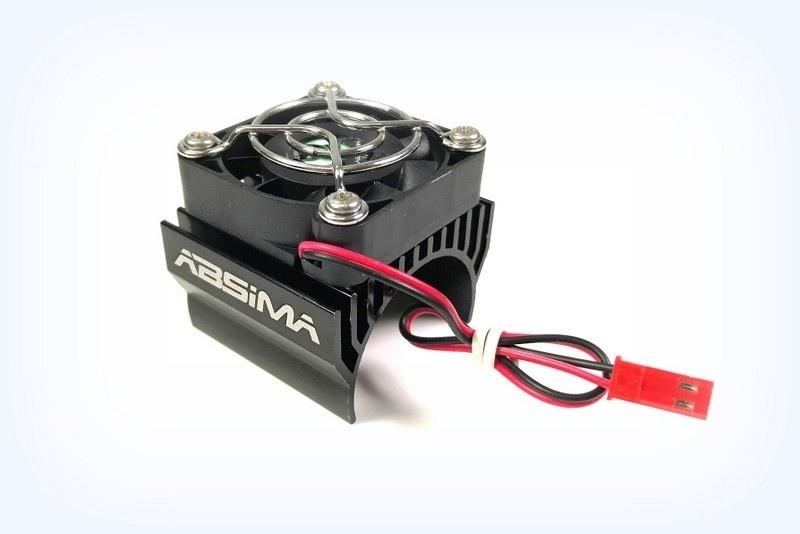 Absima Oberer Metallkühlkörper 1:8 bis 40mm, schwarz