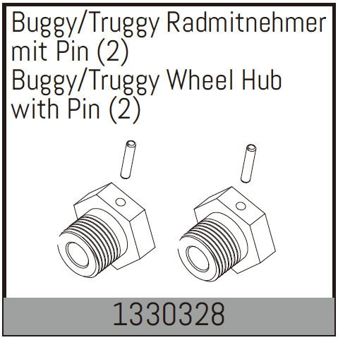 Absima Buggy/Truggy Radmitnehmer mit Pin (2)