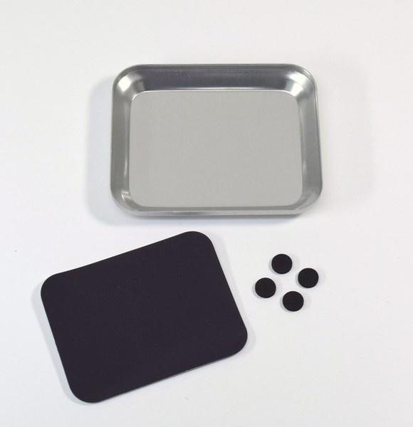 Absima Aluschale mit Magnetplatte silber