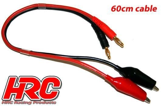 HRC Racing Ladekabel - 4mm Bullet zu Krokodil