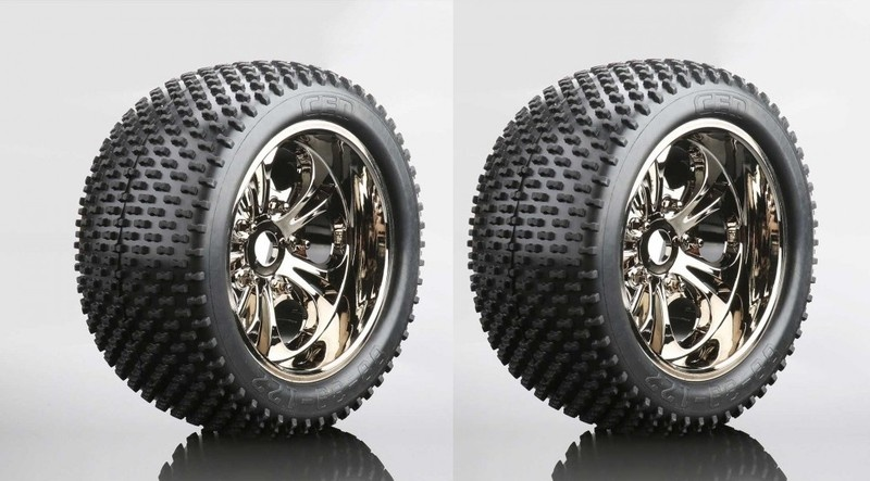 CEN Spike Reifen auf Felge (fertig verklebt, 1 Paar)
