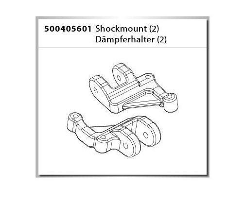 Carson X-Crawlee Pro Shock Mount/Dämpferhalter-Set (2)