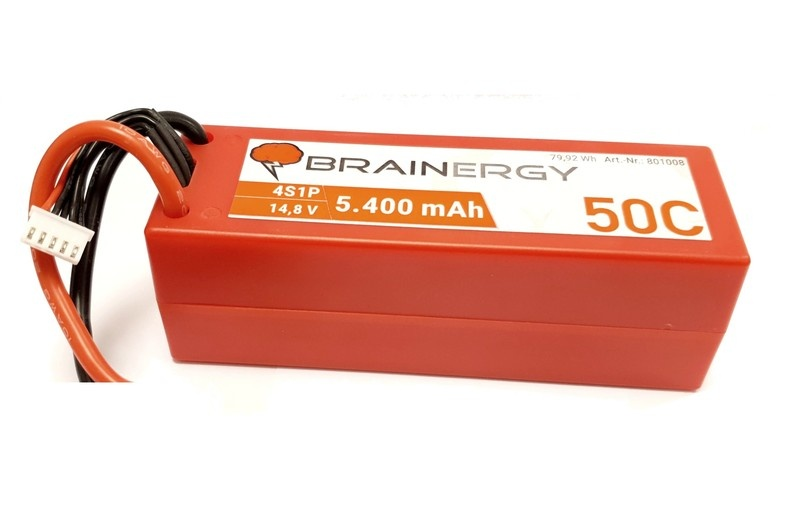 YUKI BRAINERGY LiPo 4s1p 14,8V 5.400mAh 50C T-Plug
