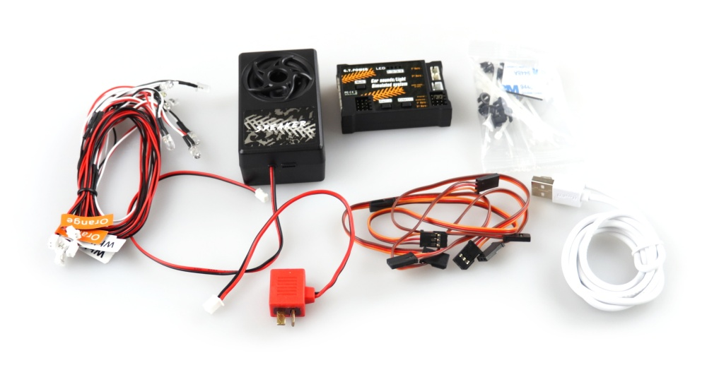 Amewi Sound & Lichtsystem mit Kontrolleinheit 4,5V-6V