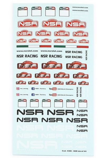 NSR Professional Decals Kit - 15x8