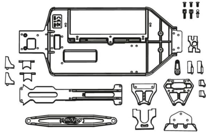 Carson X10EB Chassis- + Anbauteile-Set