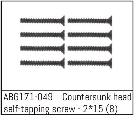 Absima Countersunk Screw M2*15 (8)