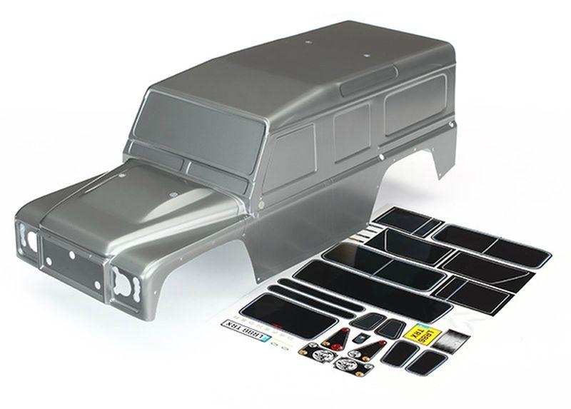 Traxxas Karo, Land Rover Defender, graphit silber + Decals