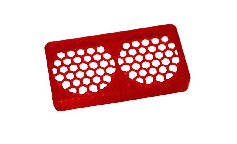 JS-Parts ultraflex Lüftergitter 2x40x10 geschlossen rot