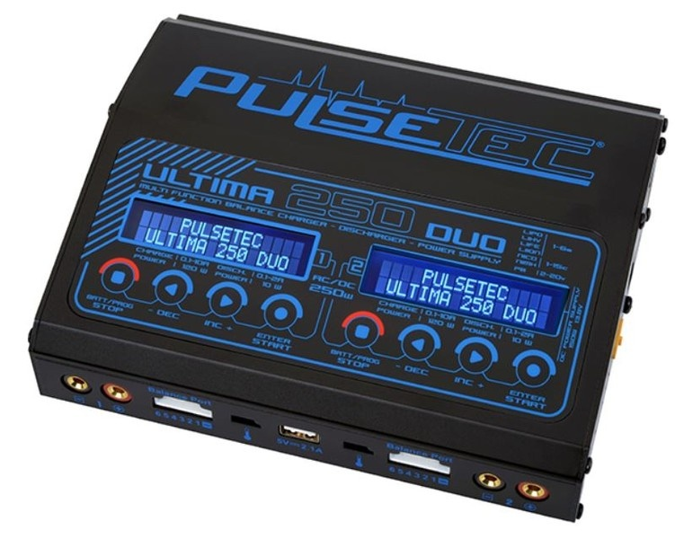 Pulsetec - Dual Charger -  Ultima 250 Duo - AC 100-240V -
