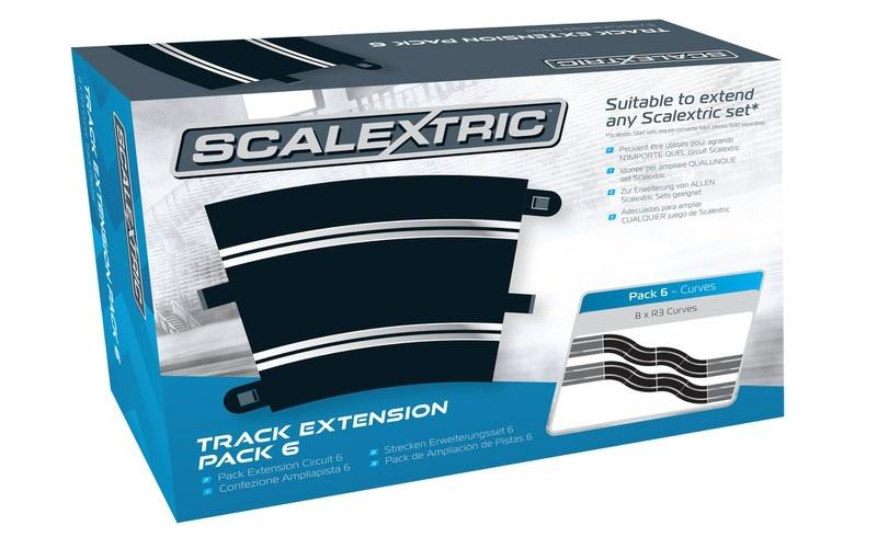 Scalextric Erweiterungs Pack 6 (8) R3/22,5 Grad Kurve