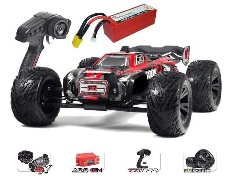 Arrma Kraton 6s BLX 4WD Monstertruck RTR, rot - SPARSET1 -
