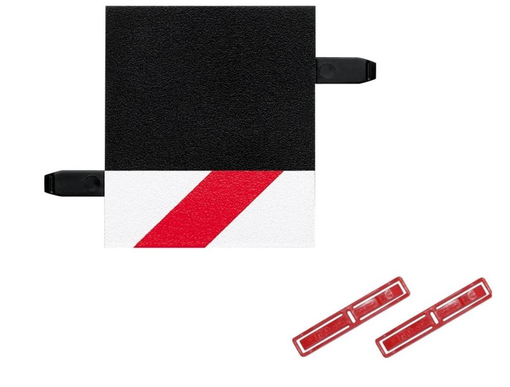 Carrera 1 Stück Randstreifen 1/4 Gerade - LOSE -