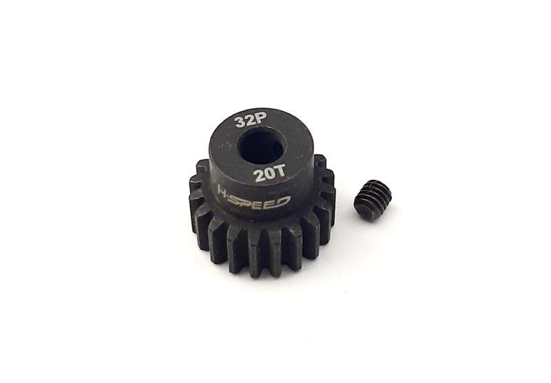 H-Speed Ritzel 20 Zähne 32dp, 5mm Stahl (M0.8)