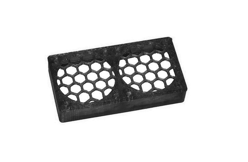 JS-Parts ultraflex Lüftergitter 2x30x10 geschlossen