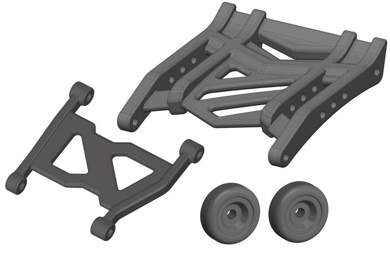 Team Corally Wheelie Bar - Composite - 1 Set