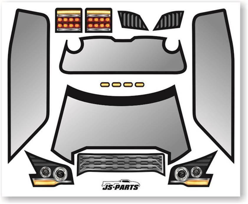 JS-Parts SE Karosserie-Decals für Probodyrc Body Typ A