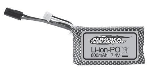 Absima 7.4V 800mAh Li-Lion battery