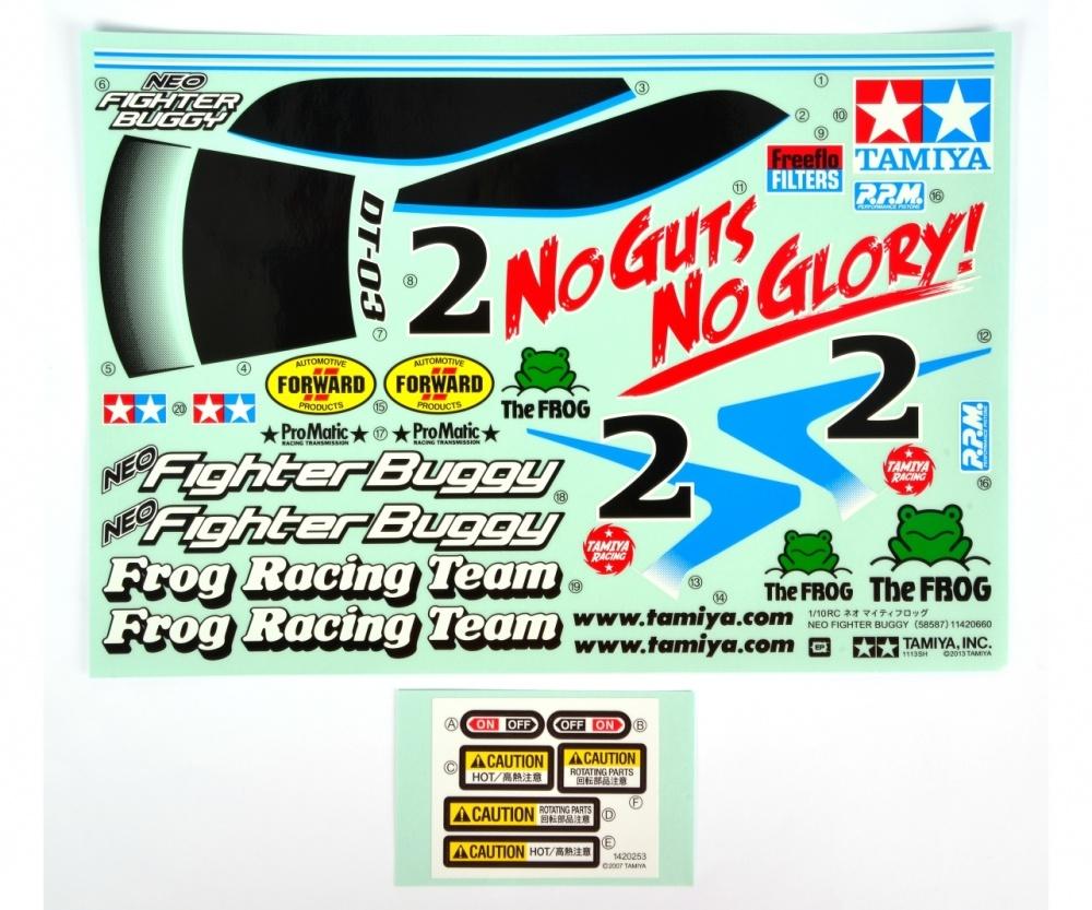 Tamiya DT03 Sticker Neo Fighter Buggy
