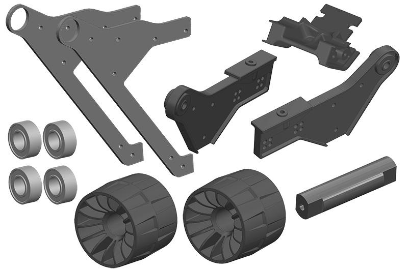 Team Corally Wheelie Bar - Complete Set
