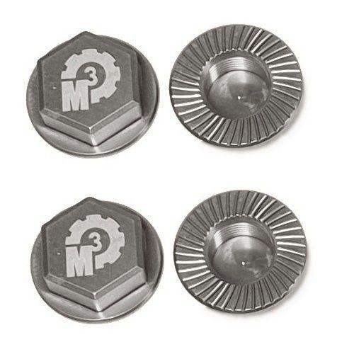 MMM Radmuttern-Set 17mm aus 7075 Aluminium - silber