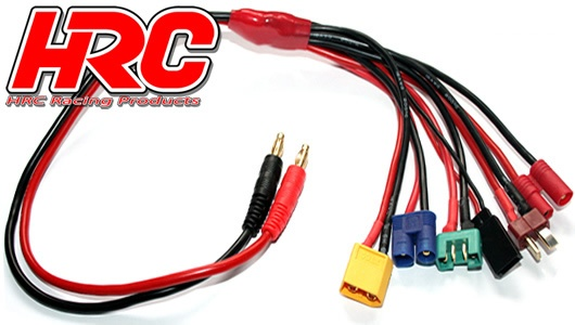 HRC Racing Ladekabel - Gold - Banana Plug zu EC3 / MPX/XT60