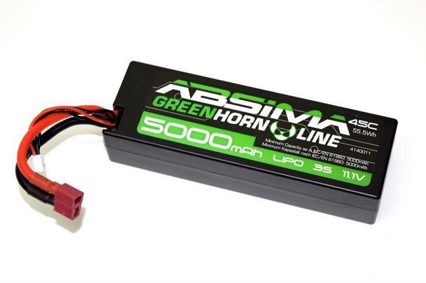 Absima LiPo Stick Pack 11.1V - 45C 5000 Hardcase (T-Plug)