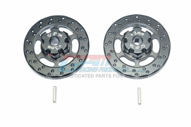 GPM aluminium +3mm hex with brake disk - 4PC SET for Traxxas