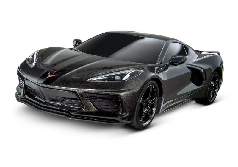 Traxxas 4Tec 3.0 Corvette C8 schwarz RTR ohne Akku/Lader