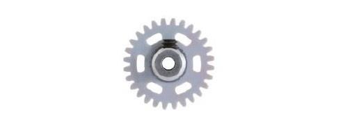NSR AW 3/32 Soft Plastic Gear/Zahnrad 28T w/alu hub grey