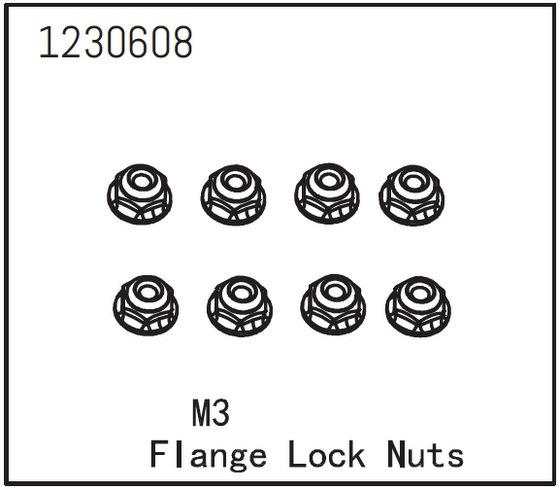 Absima Flanschmutter M3 (8)