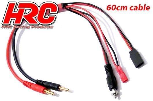 HRC Racing Ladekabel - 4mm Bullet zu JST / Receiver BEC /