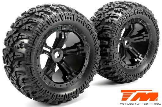 Team Magic Reifen - Monster Truck - montiert - Splinned