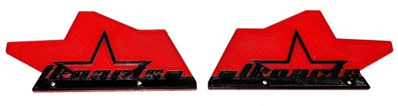JS-Parts ultraflex Mudguards rot für Tekno MT410 2-farbig