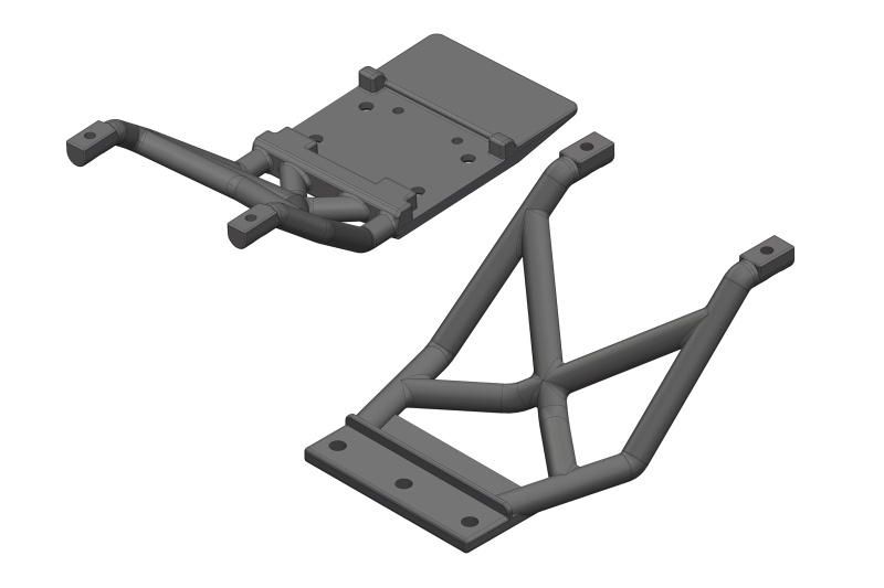 Team Corally Skid Plates - FR/RE - 1 Set