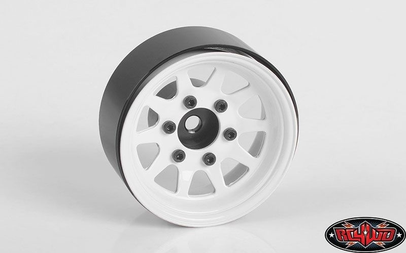 RC4WD 6-Lug Stamped Steel 1.55 Beadlock Wheels (white)