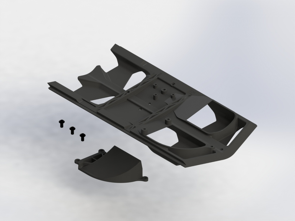 Arrma RC Skid Plate Set High Airflow