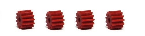 NSR SW Soft Plastic Pinions 13T (4) Red 6.75mm