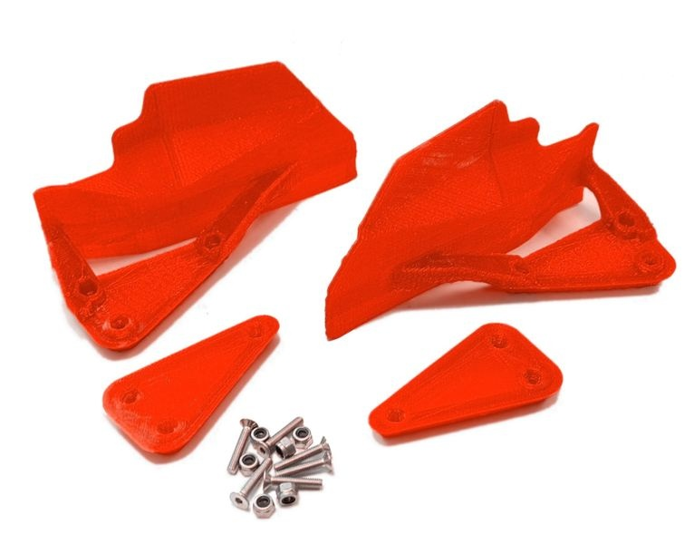 JS-Parts Mudguards ultraflex für Team Magic E6 rot