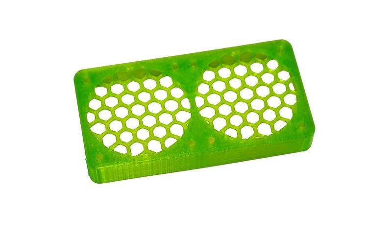 JS-Parts ultraflex Lüftergitter 2x40x10 geschlossen grün