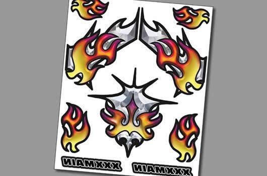 XXX Main Aufkleber - Interner Graphik - Chromal Blaze