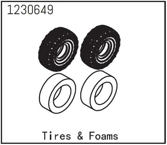 Absima Reifen und Einlage (2)