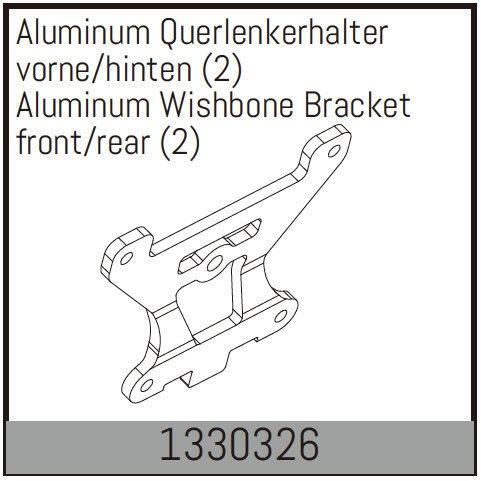 Absima Aluminum Querlenkerhalter vorne/hinten (2)