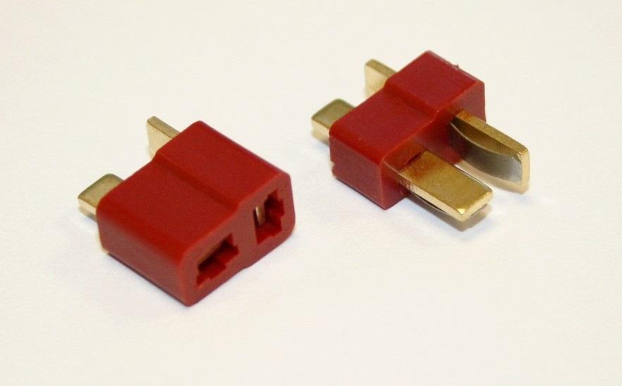 T-Plug Set / T-Stecker + T-Buchse rot bis 400°