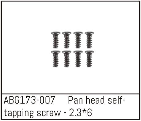Absima Pan Head Screw M2.3*6 (8)