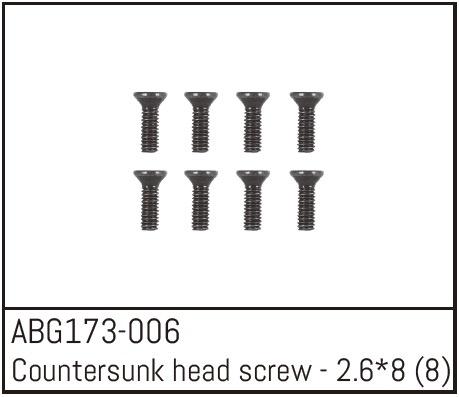 Absima Countersunk Head Screw M2.6*8 (8)