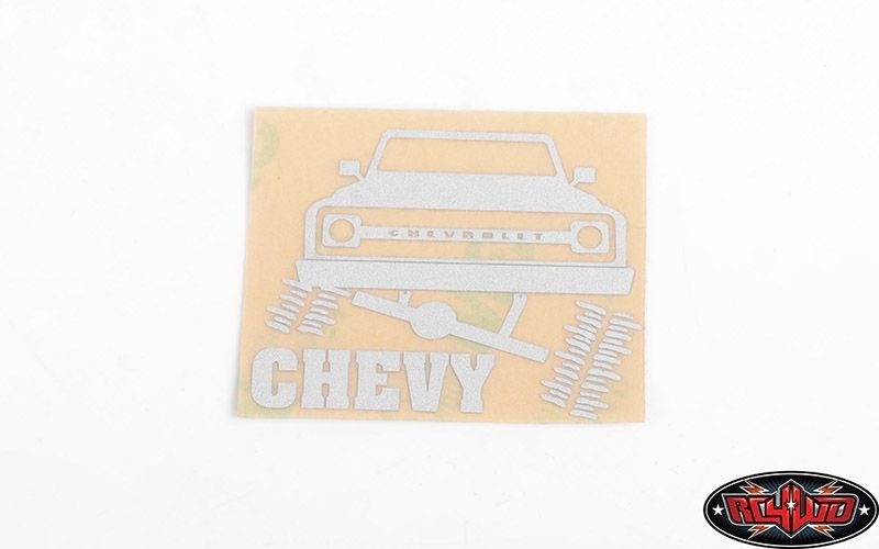 RC4WD Chrome Chevy Decals RC4WD for Traxxas TRX-4