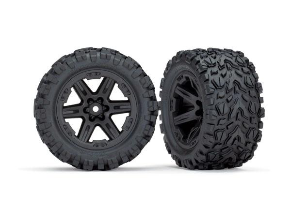 Traxxas Reifen auf Felgen 2.8 RXT schwarz, Talon Extreme (2)