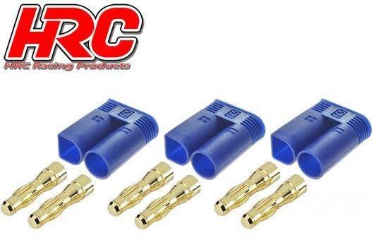 HRC Racing Stecker - Gold - EC5 - männchen (3 Stk.)